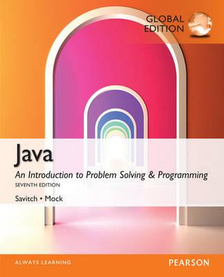 Java, Global Edition - Savitch, Walter