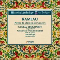 Jean Philippe Rameau: Pièces de Clavecin en Concert - Gustav Leonhardt (harpsichord); Lars Fryden (baroque violin); Nikolaus Harnoncourt (viola da gamba)
