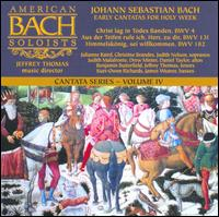Johann Sebastian Bach: Early Cantatas for Holy Week - Benjamin Butterfield (tenor); Christine Brandes (soprano); Daniel Taylor (counter tenor); Drew Minter (counter tenor);...