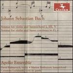 Johann Sebastian Bach: Sonatas for Violin and Harpsichord I, III, V; Sonatas for Violin and Baso Continuo in G, e
