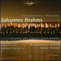 Johannes Brahms: Ein Deutsches Requiem - Version for Piano, Four Hands - Konrad Jarnot (baritone); Marlis Petersen (soprano); Philip Mayers (piano); Phillip Moll (piano);...