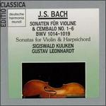 John Sebastian Bach: 6 Sonatas For Violin And Harpsichord