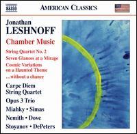 Jonathan Leshnoff: Chamber Music - Barry Dove (vibraphone); Carpe Diem String Quartet; David DePeters (suspended cymbals); David DePeters (glockenspiel);...