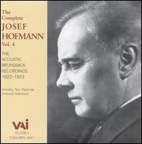 Josef Hofmann, Vol. 4 - Josef Hofmann (piano)