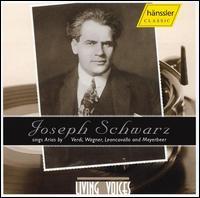 Joseph Schwarz Sings Verdi, Wagner, Leoncavallo, Meyerbeer - Claire Dux (soprano); Hermann Jadlowker (baritone); Joseph Schwarz (tenor); Bruno Seidler-Winkler (conductor)
