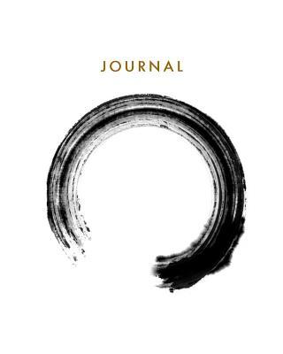 Journal: Blank Lined Notebook Zen Circle 8 X 10 - Tgr Media