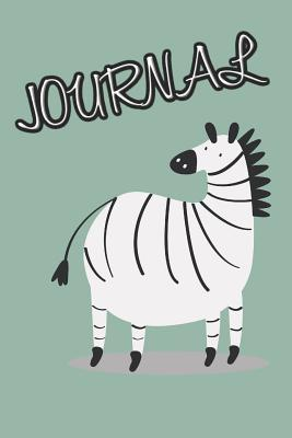 Journal: Cute Zebra Notebook for Kids or Animal Lovers to Writing (6x9 Inch.) Journal Lined Paper 120 Blank Pages for Children (Green&White&Black Pattern) - Pets, Sounding