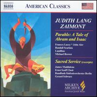 Judith Lang Zaimont: Parable: A Tale of Abram and Isaac - Everest String Quartet; Frances Lucey (soprano); Harold Lester (harpsichord); James Maddalena (baritone); John Aler (tenor);...