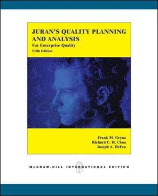 Juran's Quality Planning and Analysis for Enterprise Quality - Gryna, Frank M., and Chua, Richard C. H., and DeFeo, Joseph A.