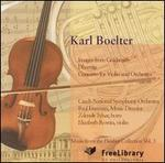 Karl Boelter: Images from Goldsmith; Dharma; Concerto for Violin and Orchestra
