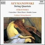 Karol Szymanowski: String Quartets; Stravinski: Concertino; Three Pieces; Double Canon