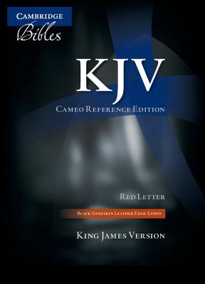 KJV Cameo Reference Edition KJ456:XRE Black Goatskin Leather -