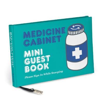 Knock Knock Medicine Cabinet Mini Guest Book -