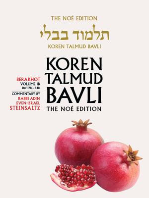 Koren Talmud Bavli, Berkahot Volume 1b, Daf 17b-34b, Noe Color Pb, H/E - Sacks, Jonathan