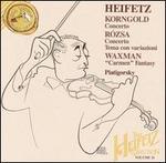 """Korngold: Concerto; Rózsa: Concerto; Tema con variazioni; Waxman: """"Carmen"""" Fantasy"""