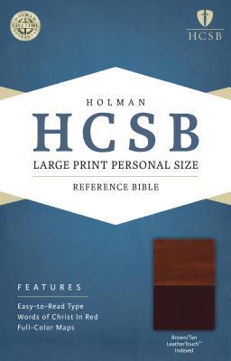 Large Print Personal Size Reference Bible-HCSB - Broadman & Holman Publishers (Creator)