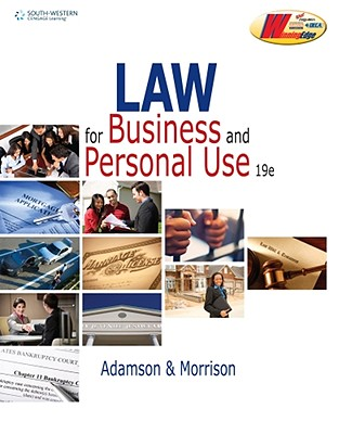 Law for Business and Personal Use - Adamson, John E, and Morrison, Amanda