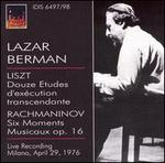 Lazar Berman plays Liszt & Rachmaninov