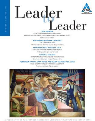 Leader to Leader (LTL), Volume 68, Spring 2013 - Frances Hesselbein Leadership Institute