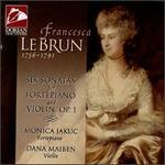Lebrun: Six Sonatas For Fortepiano And Violin, Op.1