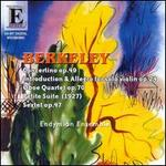 Lennox Berkeley: Concertino Op. 49; Introduction & Allegro Op. 24; Oboe Quartet Op. 70; Petite Suite; Sextet Op. 47