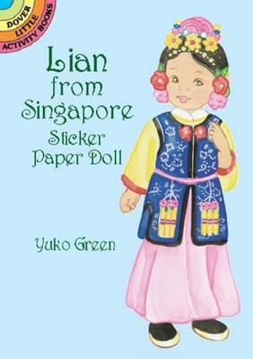 Lian from Singapore Sticker Paper Doll - Green, Yuko