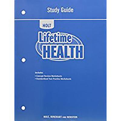 Lifetime Health: Study Guide - Holt Rinehart & Winston