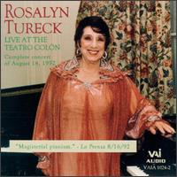Live at the Teatro Colón - Rosalyn Tureck (piano)