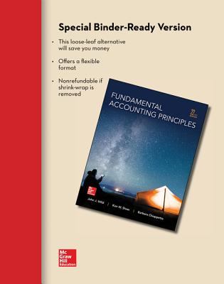 Loose Leaf for Fundamental Accounting Principles - Wild, John J, and Shaw, Ken, Professor