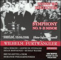 Ludwig van Beethoven: Symphony No. 9 in D Minor - Erna Berger (soprano); Gertrude Pitzinger (contralto); Helge Rosvaenge (tenor); Rudolf Watzke (bass);...