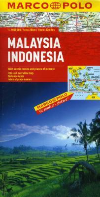 Malaysia, Indonensia Marco Polo Map - Marco Polo