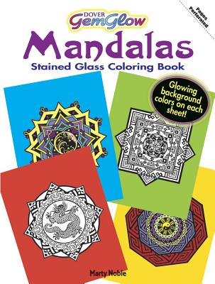 Mandalas Stained Glass Coloring Book - Noble, Marty