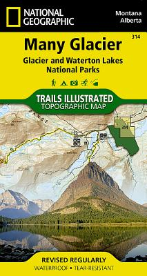 Many Glacier-Glacier National Park: Trails Illustrated-National Park Maps - National Geographic Maps