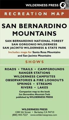 Map San Bernardino Mtn Rec 6/E: San Bernardino Natl Forest & San Gorgonio / San Jacinto Wild Areas -