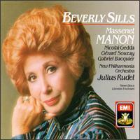 Massenet: Manon - Beverly Sills (soprano); Gabriel Bacquier (vocals); Gérard Souzay (baritone); Helia T'hezan (soprano);...