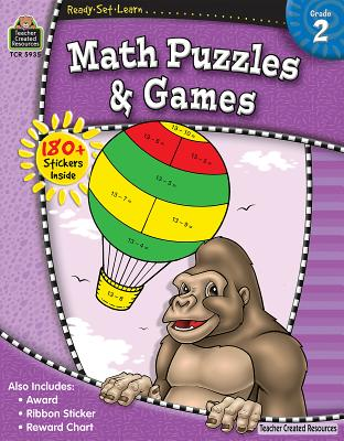 Math Puzzles & Games, Grade 2 - Teacher Created Resources