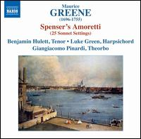 Maurice Green: Spenser's Amoretti (25 Sonnet Settings) - Benjamin Hulett (tenor); Giangiacomo Pinardi (theorbo); Luke Green (harpsichord)