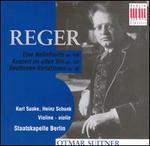 Max Reger: Eine Ballettsuite Op. 130; Konzert in alten Stil Op. 123; Beethoven-Variationen