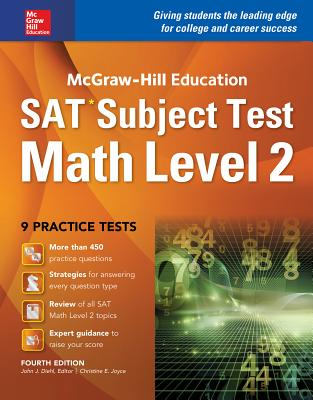 McGraw-Hill Education SAT Subject Test Math Level 1 4th Ed. - Diehl, John