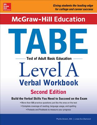 McGraw-Hill Education Tabe Level a Verbal Workbook, Second Edition - Dutwin, Phyllis, M.A., and Diamond, Linda Eve