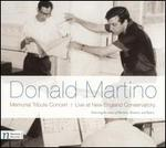 Memorial Tribute Concert to Donald Martino