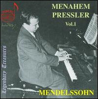Menahem Pressler, Vol. 1: Mendelssohn - Daniel Guilet (violin); David Soyer (cello); Menahem Pressler (piano); Nathan Gordon (viola); Philip Sklar (double bass);...