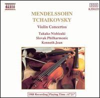 Mendelssohn, Tchaikovsky: Violin Concertos - Takako Nishizaki (violin); Slovak Philharmonic Orchestra; Kenneth Jean (conductor)