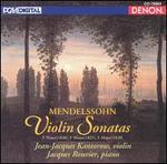 Mendelssohn Violin Sonatas