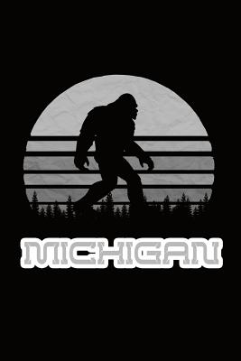 Michigan: Bigfoot themed journal with names of States in America. - Koorey, Nathan