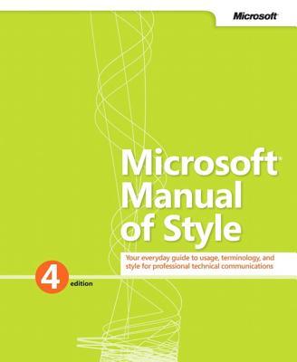Microsoft Manual of Style - Microsoft Corporation
