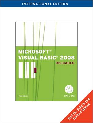 Microsoft Visual Basic 2008: Reloaded - Zak, Diane