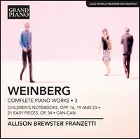 Mieczyslaw Weinberg: Complete Piano Works, Vol. 3 - Allison Brewster Franzetti (piano)