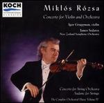 Mikl�s R�sza: Concerto for Violin and Orchestra