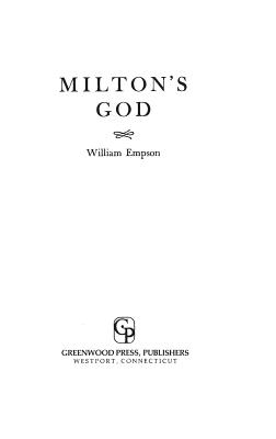 Milton's God - Empson, William
